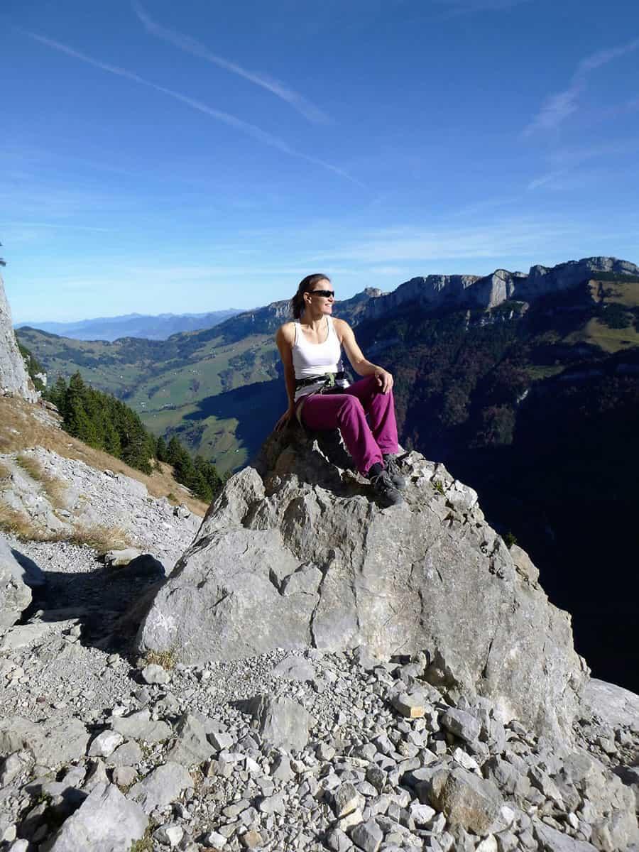 Klettern am Äscher in der Schweiz