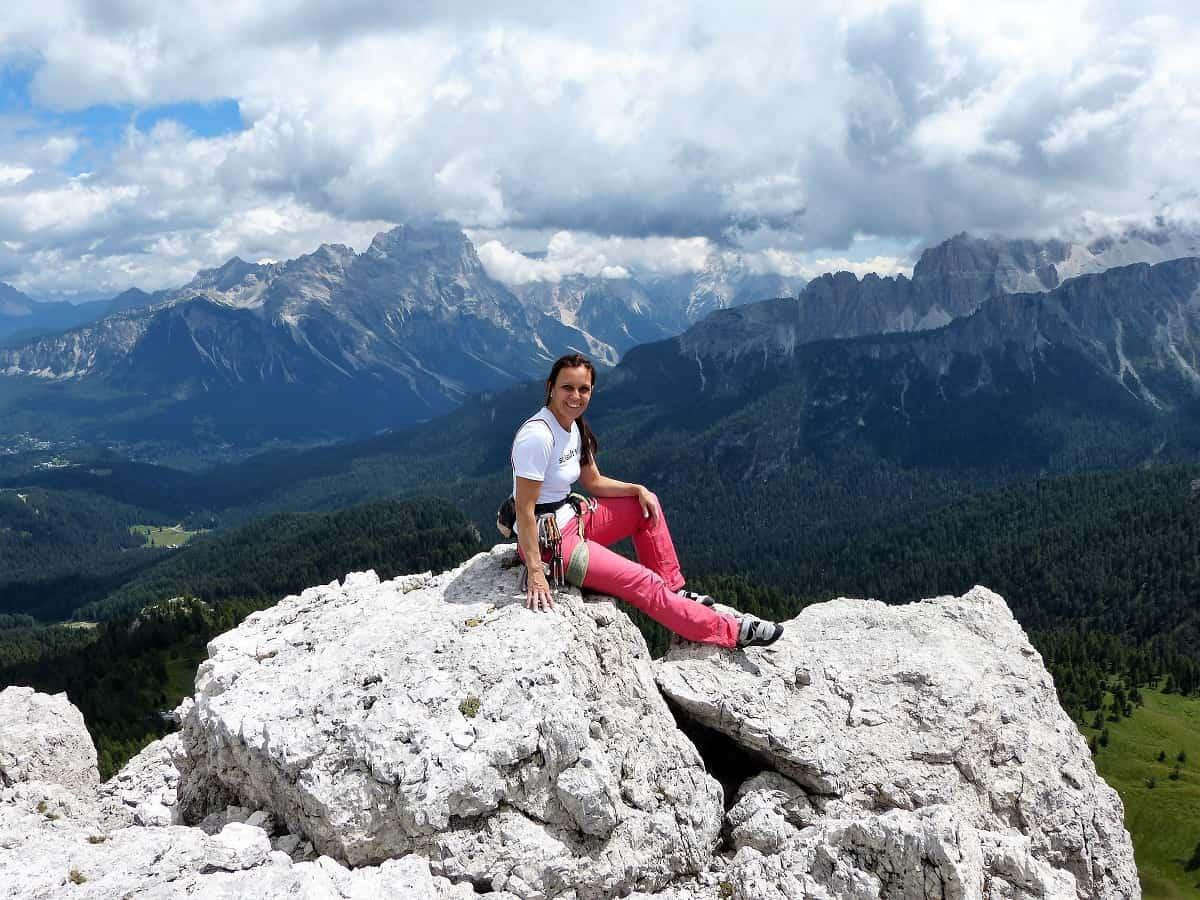 Dimai Direkt 6+ am Torre Grande in den Dolomiten