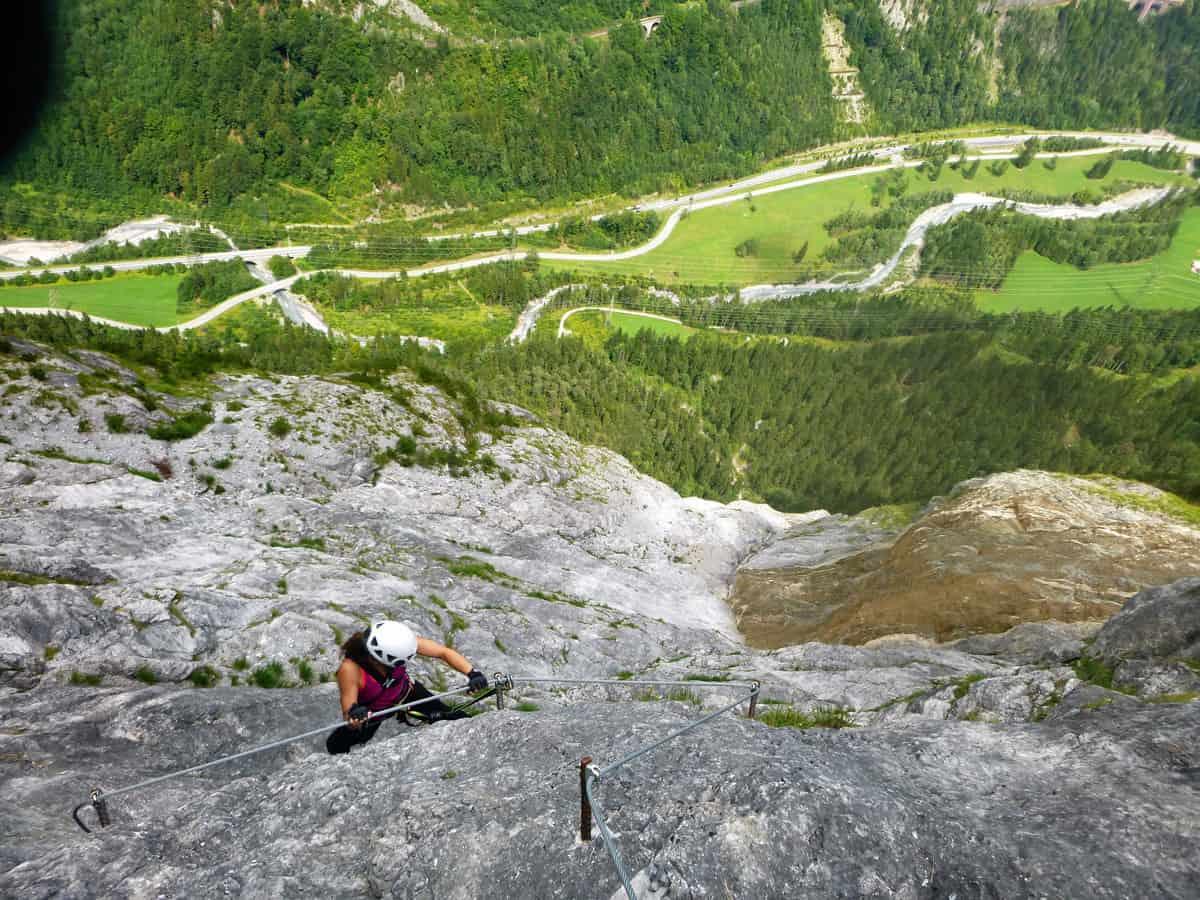 Fallbach Klettersteig Vorarlberg : Fallbach klettersteig moosbrugger climbing