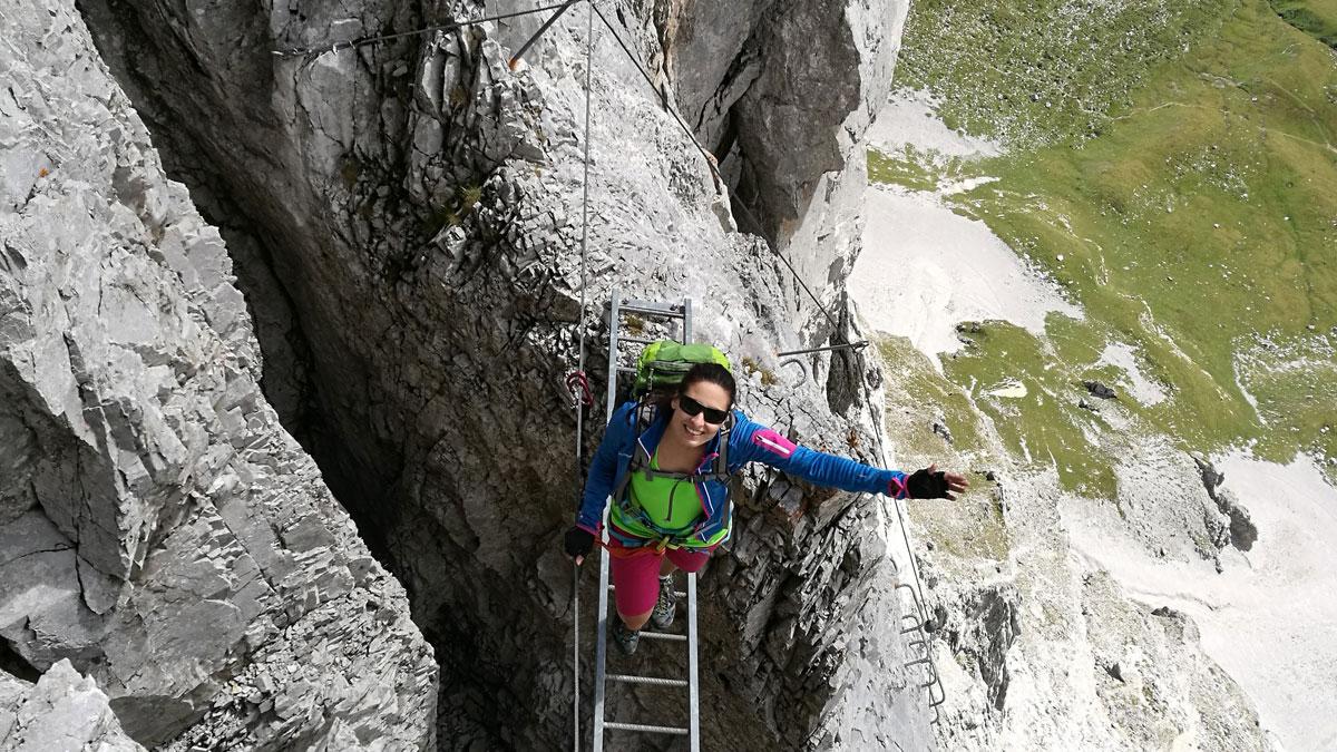 Der spektakuläre Sulzfluh Klettersteig im Rätikon