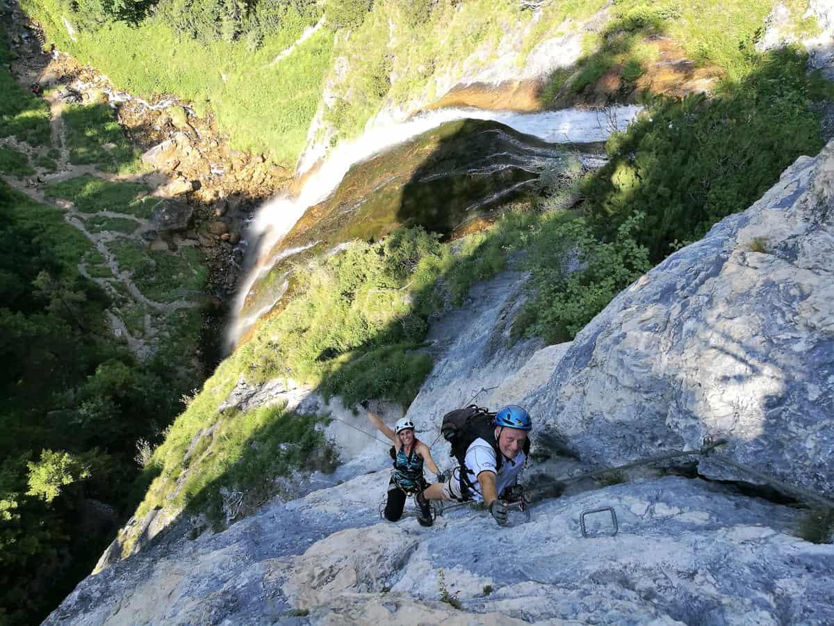 Klettersteig Achensee : Der dalfazer wasserfall klettersteig kurz und knackig