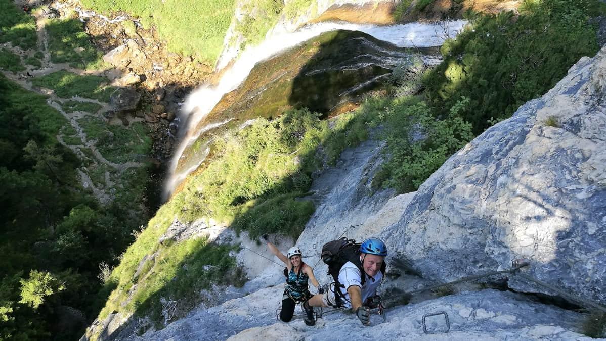 Der Dalfazer Wasserfall Klettersteig - kurz und knackig