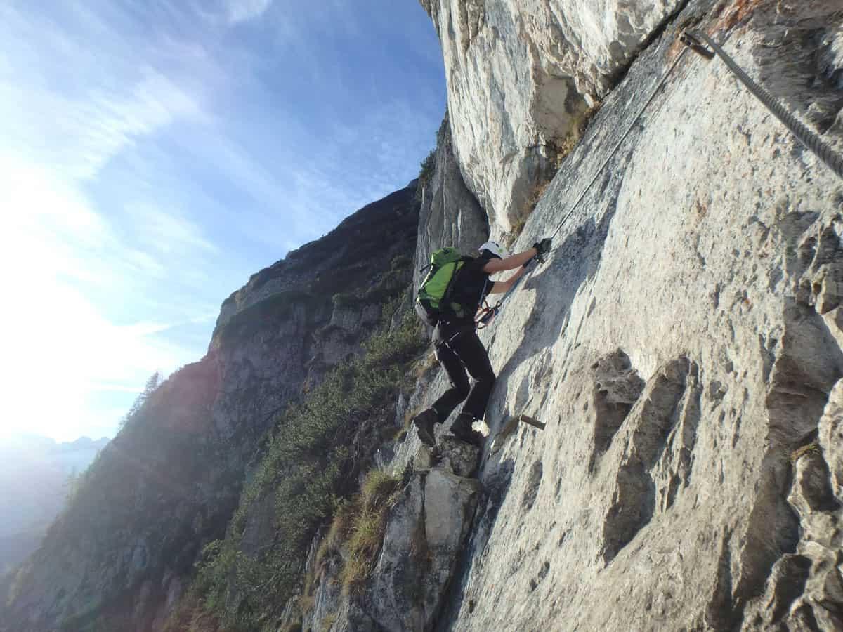 Klettersteig Himmelsleiter : Der klettersteig belvédère c d im wallis bergwelten