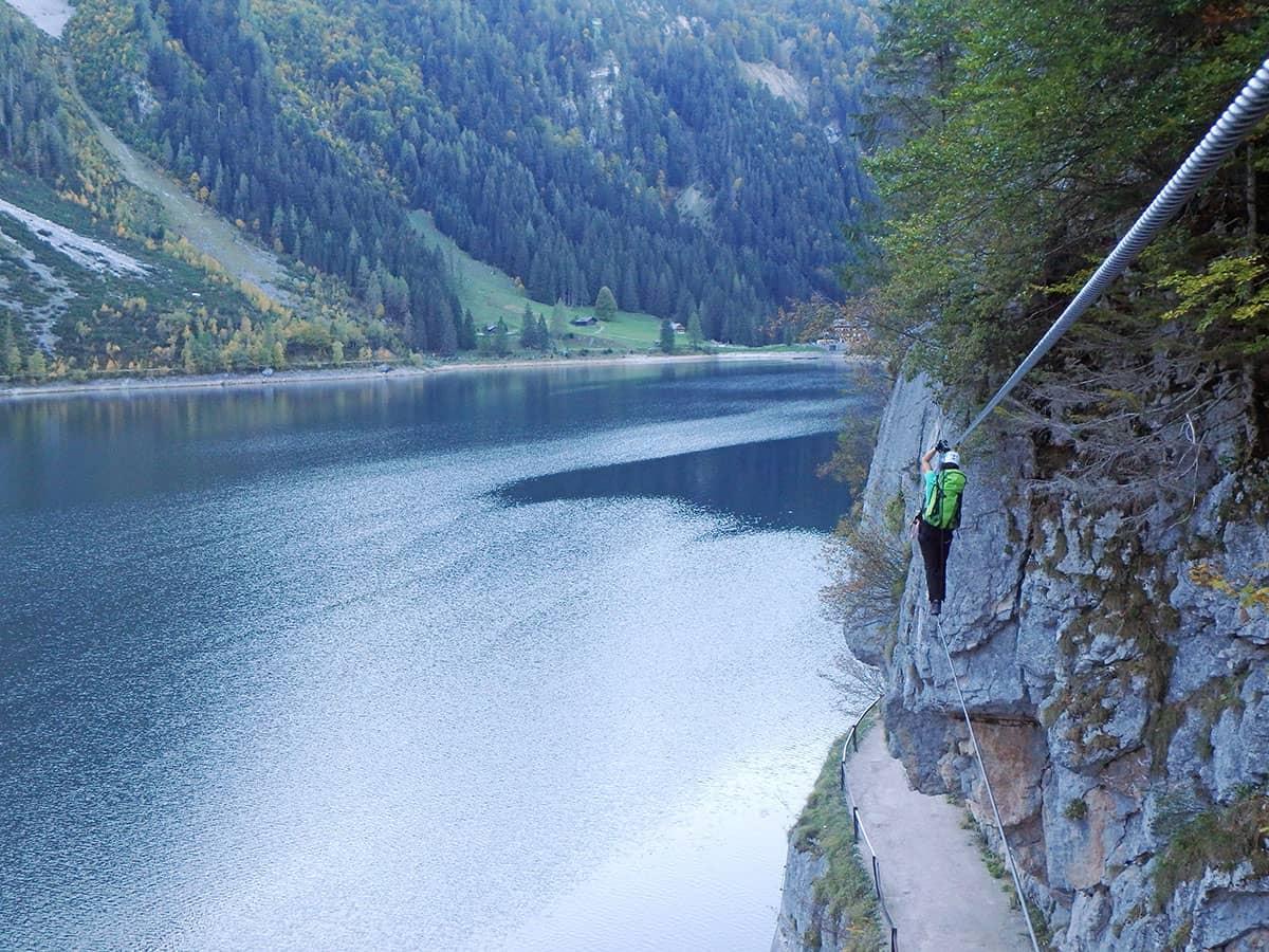 Klettersteig Gosausee : Lasereralpin klettersteig gosausee moosbrugger climbing