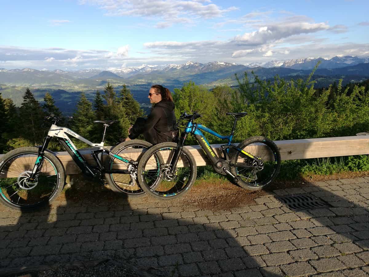 Mit dem E-Mountainbike unterwegs! Von Bregenz auf den Pfänder und den Hirschberg