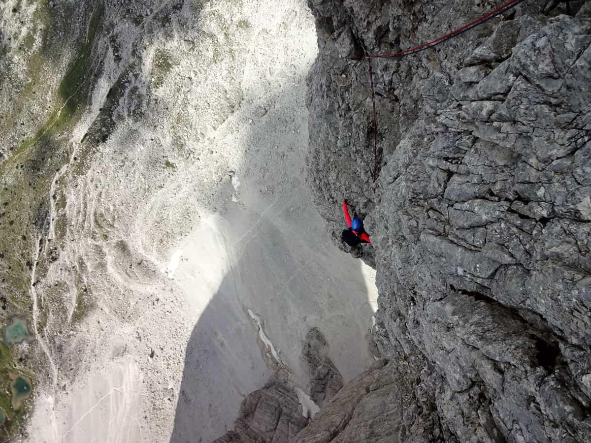 Comici - klettern an der Nordwand der großen Zinne - ein Alpin Klassiker