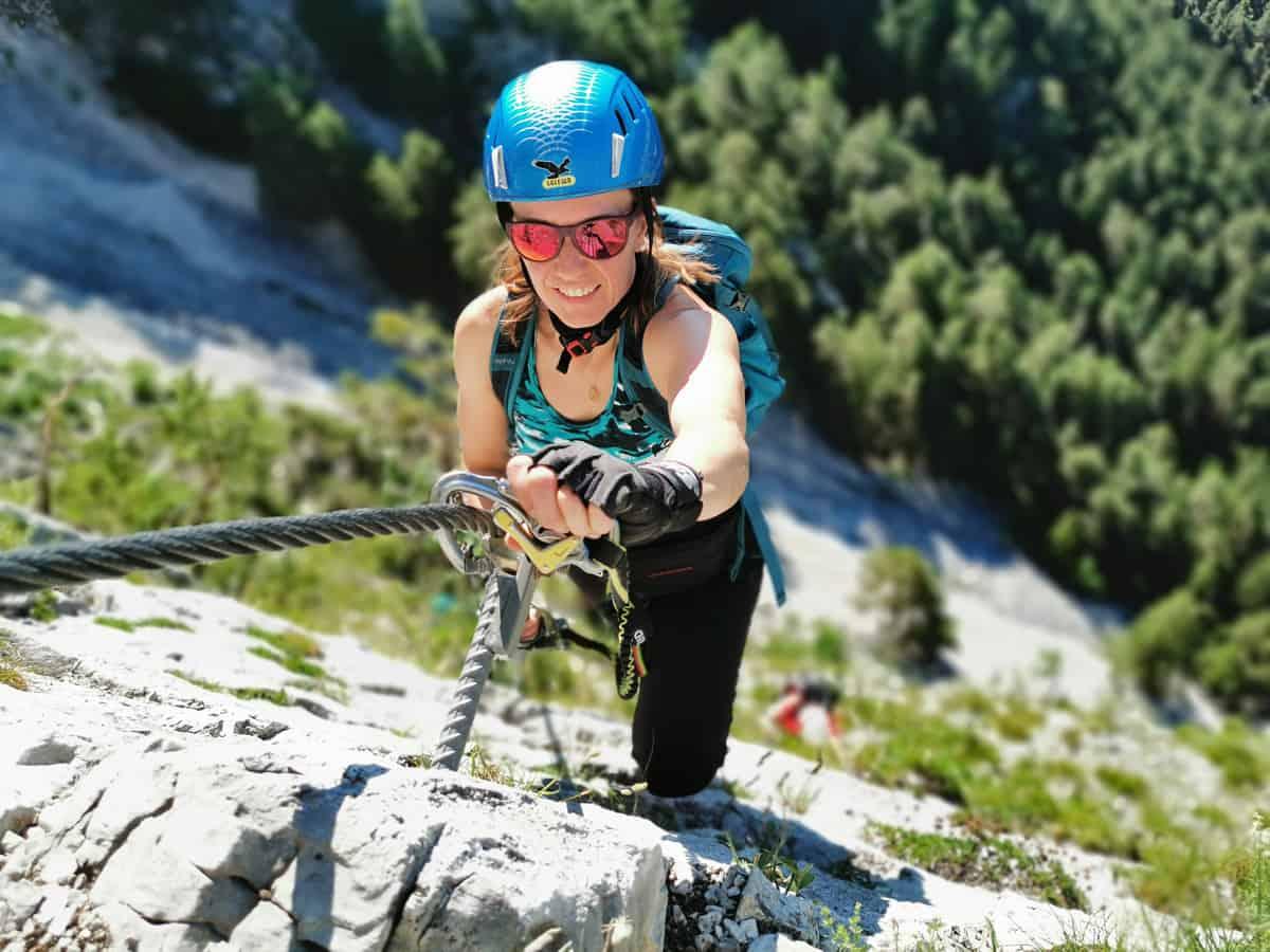 Unterwegs am Leithe Klettersteig in Nassereith!